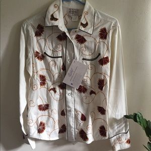 NWT Rockmount Ranch Wear Rodeo Blouse Embroidered
